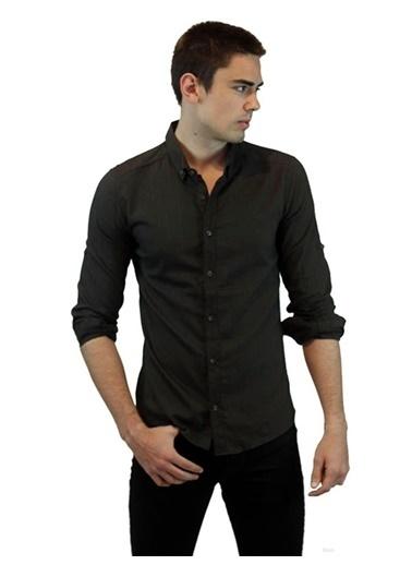 Rodrigo 1420 Uzun Kol Erkek Gömlek  Haki